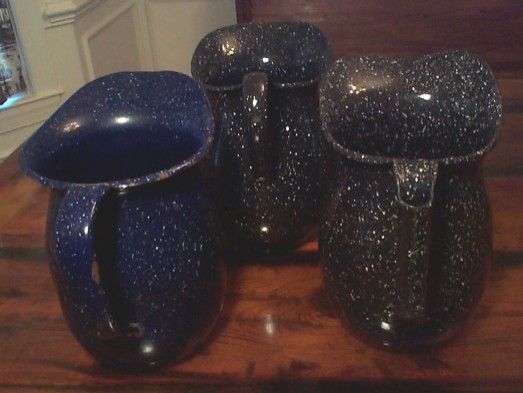 us navy enlisted mess hall galley graniteware pitchers