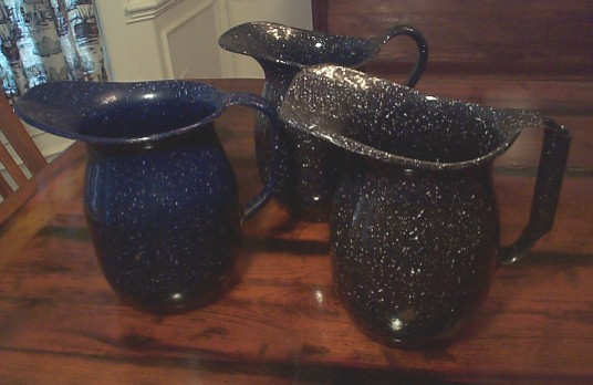 us navy enlisted mess hall galley enamelware water or milk pitchers