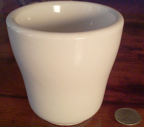 US Navy Standard Issue WWI WWII White Handless Mug