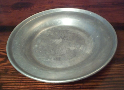 Top View of US Navy Enlisted Seaman's Aluminum Mess Plate
