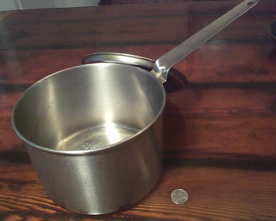 us navy enlisted mess hall galley cooking pot with lid