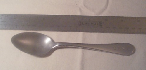 us navy enlisted stainless steel table spoon