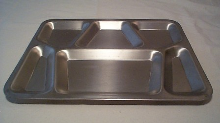 WW2 Korea Vietnam era, marked USMC on back, stainless steel tray