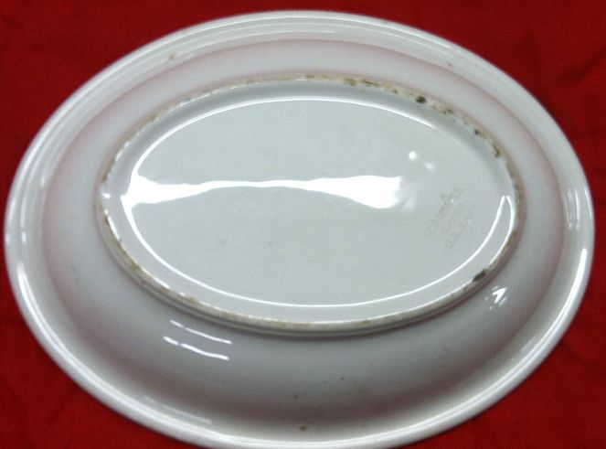 Navy Enlisted Mess Scammell China White Serving Bowl