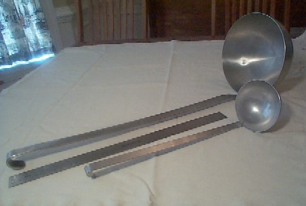 us navy enlisted stainless steel mess deck galley food preparation and serving ladle set