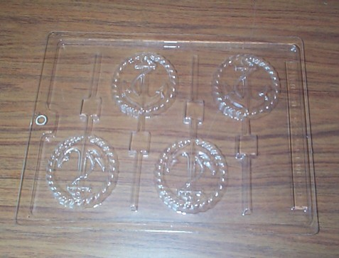 Ice Tray or Chocoloate Mold of Nautical Anchors