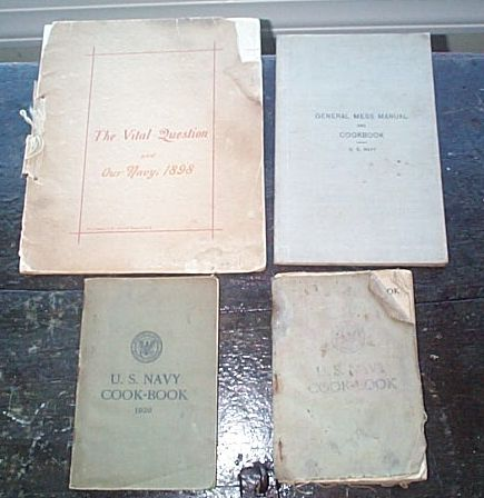Official US Navy Regulation Cook Books