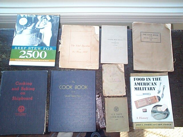 us navy official mess cook books of food prepartion