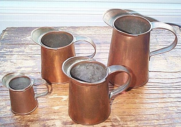 us navy copper measuring cups