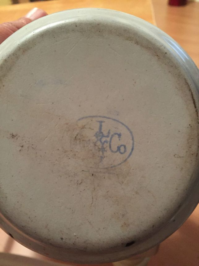 Lalance & Grosjean Manufacturing Co Backstamp or Makers Mark on Metal Graniteware US Navy Enlisted Mess Bowl or Cup