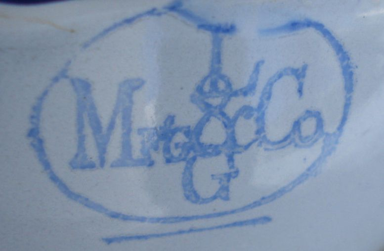 Lalance & Grosjean Manufacturing Co Backstamp or Makers Mark on enlisted cup and plate ca 1898-1910