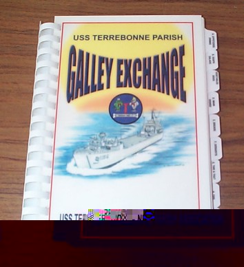 us navy cook book uss terrebonne