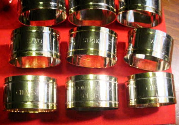 Authentic US Navy Napkin Rings