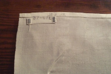 Official U.s. Navy Table Linen Tablecloth With Laundry Marking ...