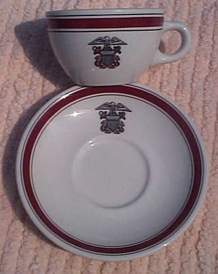 USCG issued Formal Coast Guard Cup and Saucer with Insignia
