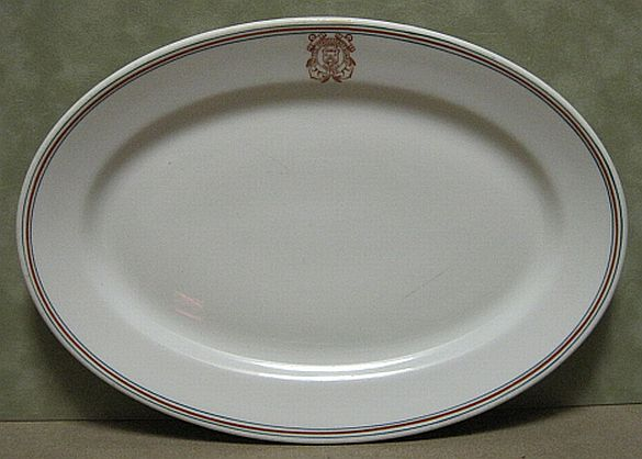 uscg coast guard ivory serving platter
