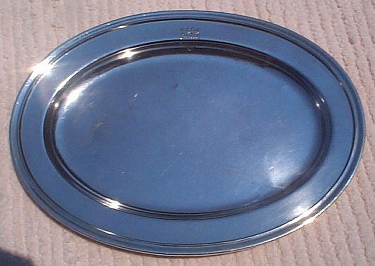 USCG issued Formal Coast Guard Silverplate Serving Tray with Insignia