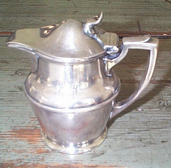 uscg coast guard syrup or creamer silverplated with insignia