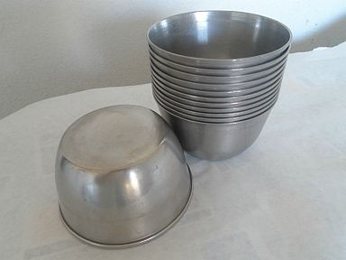 usmc wwii combat field mess aluminum deep soup bowl