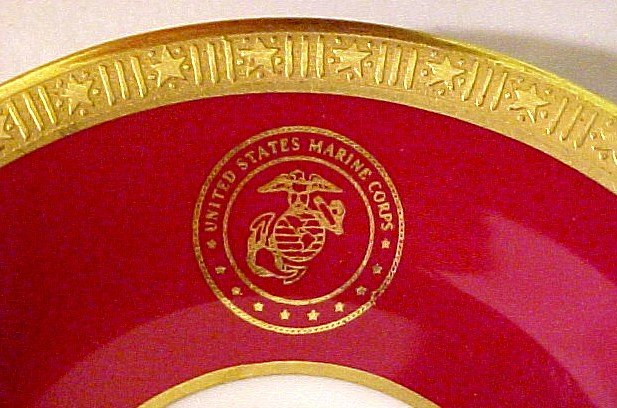 USMC Demitasse Cup and Saucer used by the commandant of the marine corp cushman