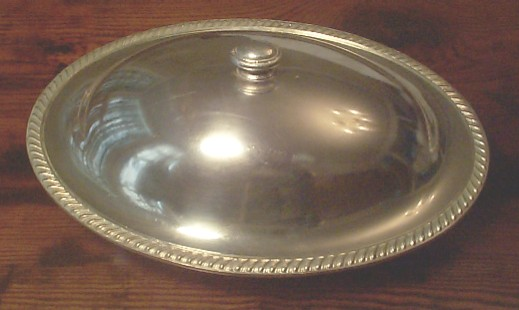 USMC Marine Corps Hollow Ware Silverplated Serving Bowl with Lid.. RARE