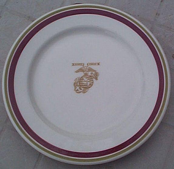 usmc marines wwii large dinner plate