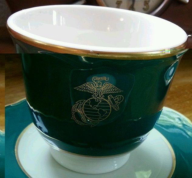 usmc marine corps mug, goblet, egg cup general field mess