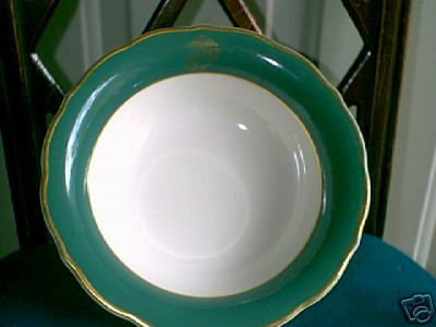 usmc marine corps soup bowl general field mess, green and gold