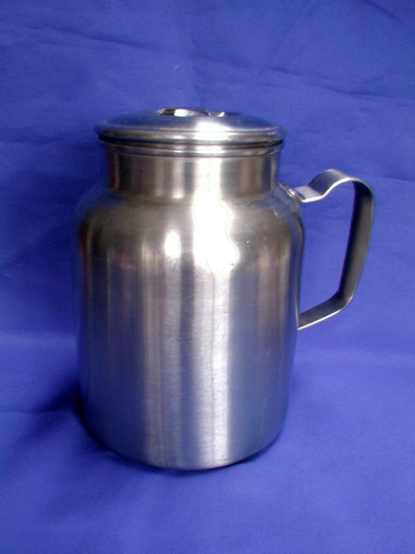 USMC Marine Corps 1900-1940's Field Mess Aluminum Serving Pitcher or Food Container