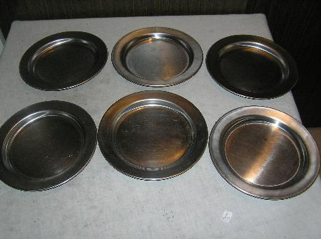 WW2, marked USMC, stainless steel mess plates, 1945