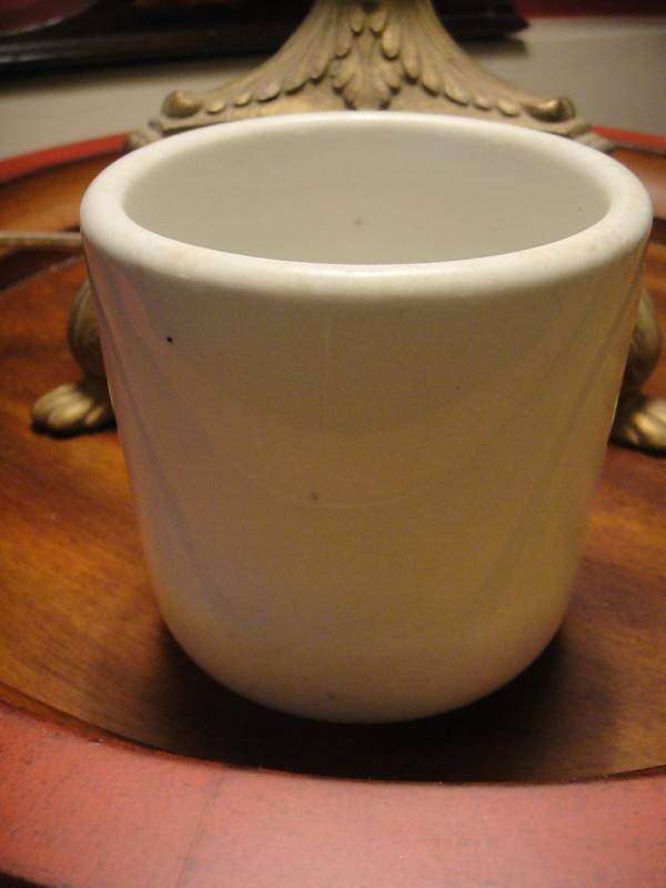 plain white large mug dated 1905