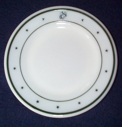 ww2 usmc marine corps roll and butter plate