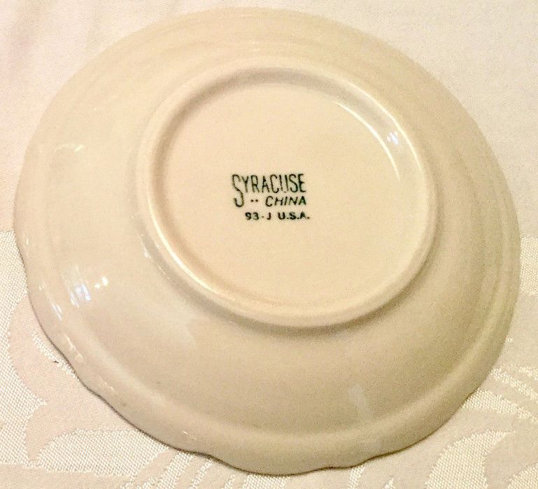 USMC Marine Corps Cup and Saucer with Burgandy and Gold Sriping and Gold EGA