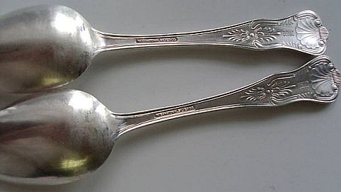 Korea and Vietnam era marked USMC, silverplated silverware general's field mess serving spoon