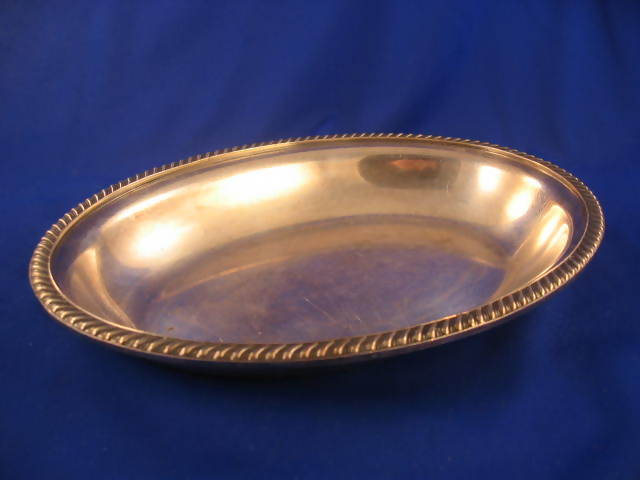 marked USMC on bottom RARE Hollow Ware silverplated Uncovered Serving Bowl