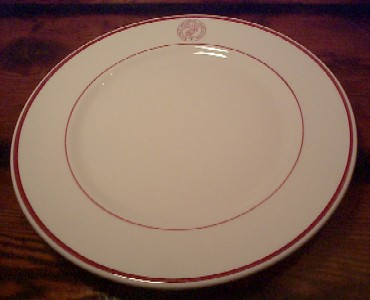 usmc marines memorial association large dinner plate