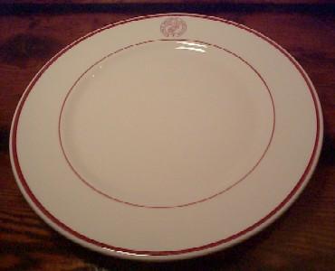 usmc marines memorial association large dinner plate