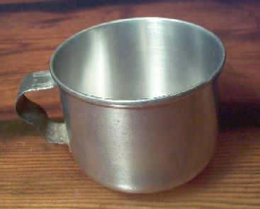 WW2 era, marked USMC, stainless steel cup with handle