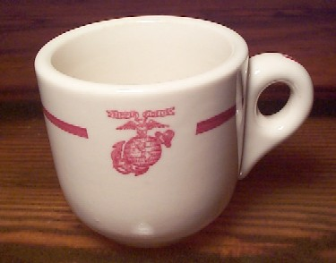 ww2 usmc marine corps demitasse coffee cup