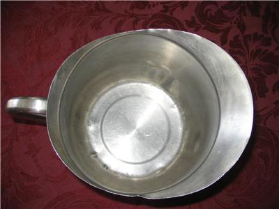 usmc stainless steel water pitcher inside view
