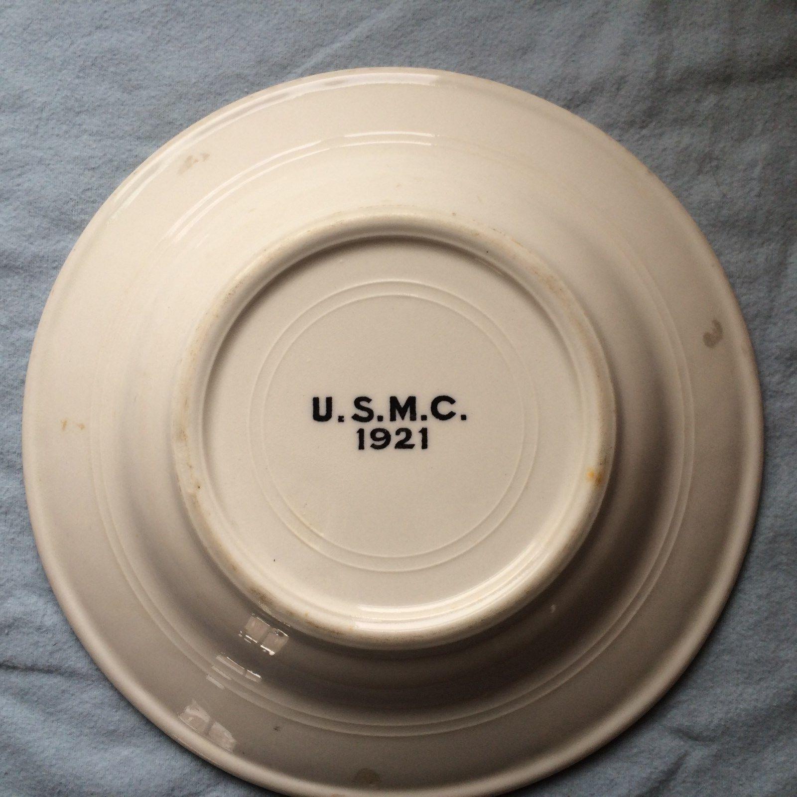 USMC Marine Corps Dinner Soup Bowl