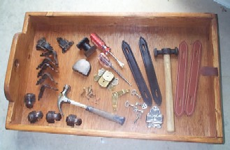 Antique Trunk Furniture Restoration Tools And Equipment