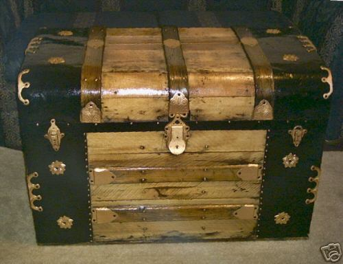 100+ year old Antique Extra Large Pirates Treasure Chest or Captains Sea Chest