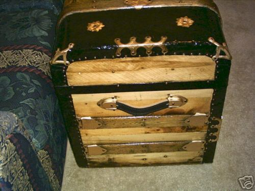 10 Authentic 100 150 Year Monitor Top Antique Trunk Old