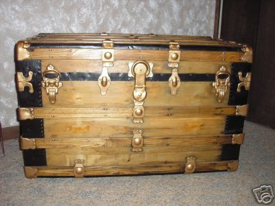 100+ year old Antique Flatop Flat Top Pirate Chest