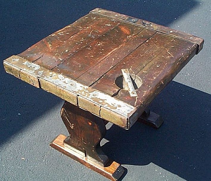 Wwii Liberty Ship Hatch Cover Wooden Hatch Cover End Table