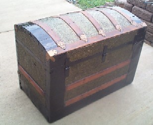Pirate Treasure Chest #96 back view