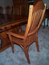 matching dining room mission chair