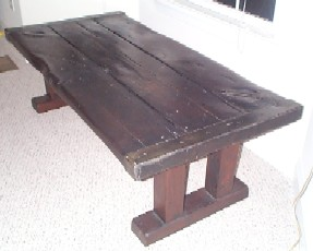 nautical table, liberty ship wooden hatch cover table, dark stain, smooth finish