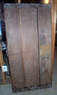 Liberty Ship Wooden Hatch Cover Unrestored  Back View RARE